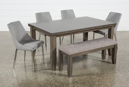 Ashford Ii 6 Piece Dining Set With Bowery Chairs