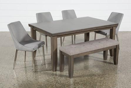 Ashford II 6 Piece Dining Set With Bowery II Chairs - Main