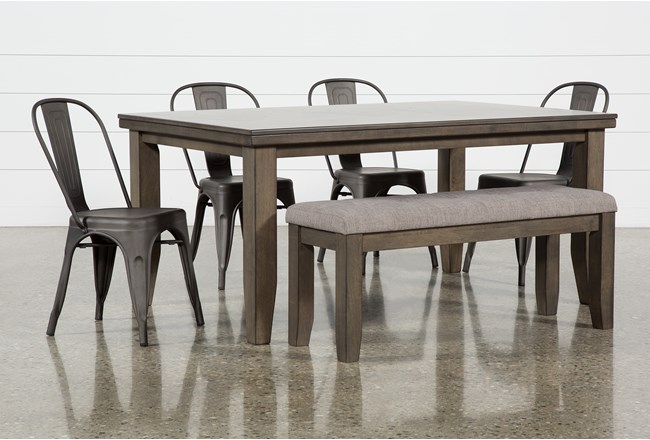 Ashford II 6 Piece Dining Set With Delta Bronze Chairs - 360