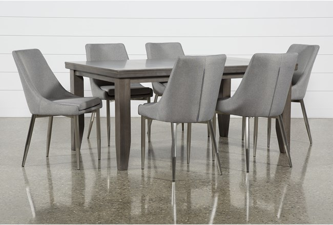 Ashford II 7 Piece Dining Set With Bowery II Chairs - 360
