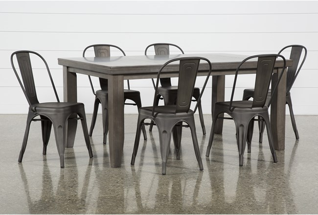 Ashford II 7 Piece Dining Set With Delta Bronze Chairs - 360