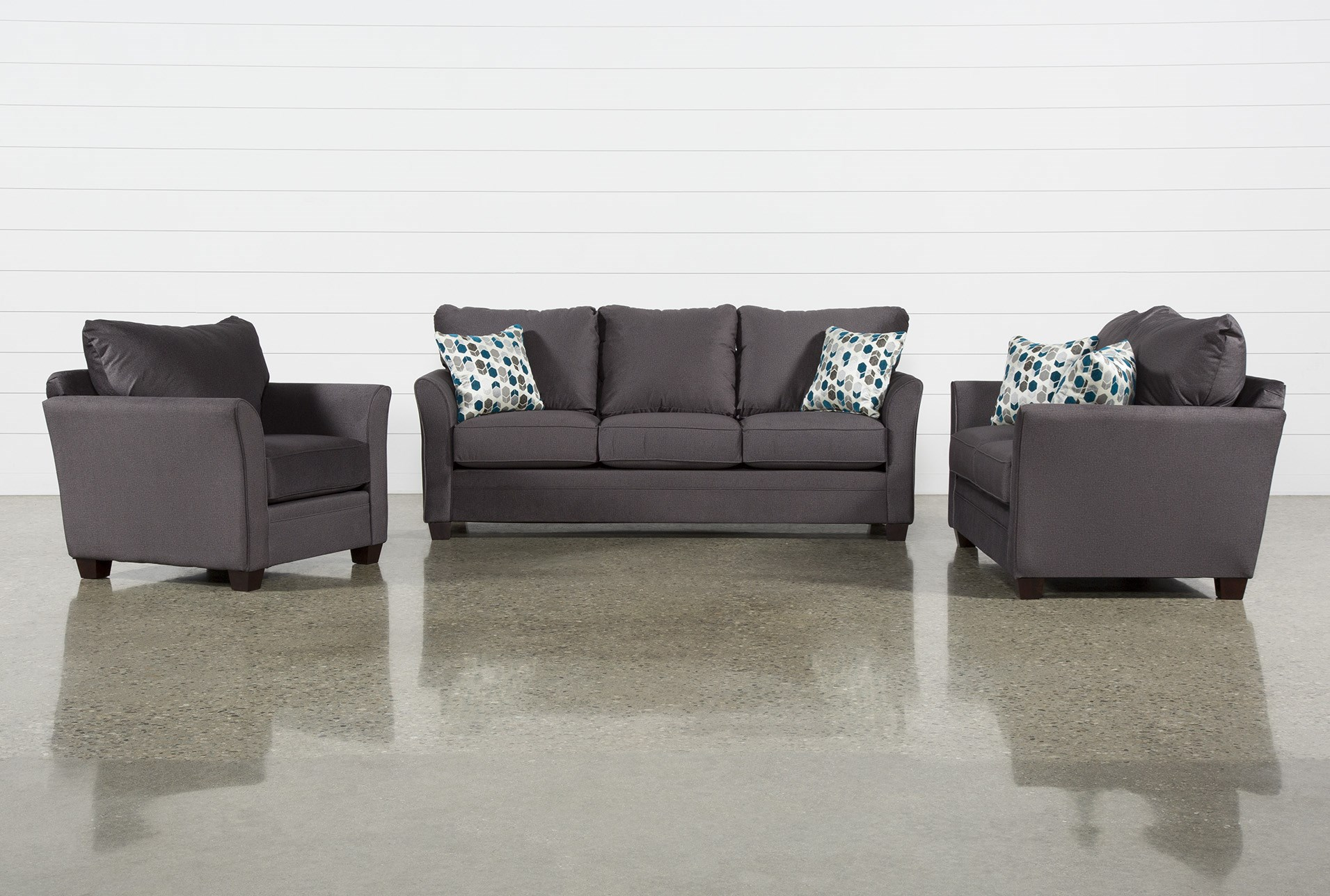 Julisa Grey 3 Piece Living Room Set | Living Spaces