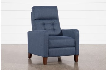 Darnell Blue Push Back Recliner