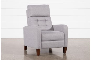 Darnell Grey Push-Back Recliner