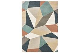 46X65 Rug-Zion Prism Orange/Aqau Plush Pile