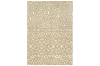 46X65 Rug-Zion Pattern Taupe Plush Pile