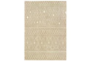 "3'8""x5'4"" Rug-Zion Pattern Taupe Plush Pile"