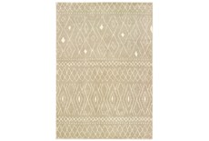 "9'8""x12'8"" Rug-Zion Pattern Taupe Plush Pile"