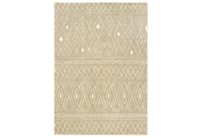 "9'8""x12'8"" Rug-Zion Pattern Taupe Plush Pile - 360"