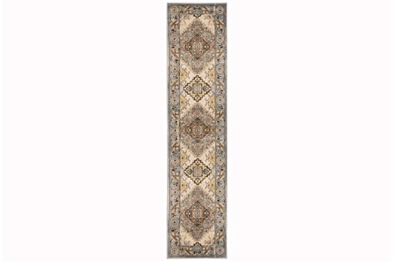 22X90 Rug-Global Traditional Taupe