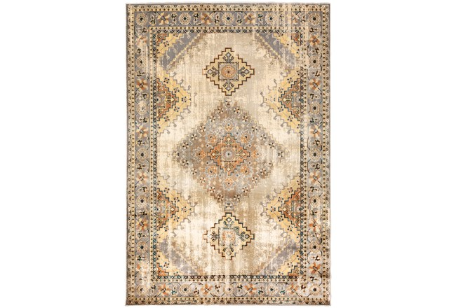 "5'3""x7'3"" Rug-Global Traditional Taupe - 360"