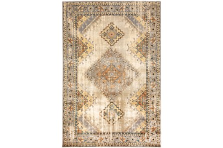 118X154 Rug-Global Traditional Taupe
