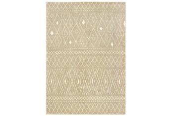 "7'8""x10' Rug-Zion Pattern Taupe Plush Pile"
