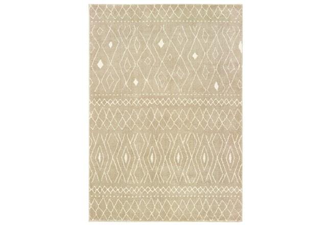 94X120 Rug-Zion Pattern Taupe Plush Pile - 360