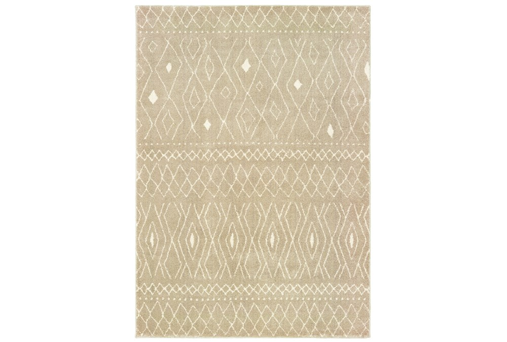 "5'3""x7'3"" Rug-Zion Pattern Taupe Plush Pile"
