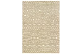 63X87 Rug-Zion Pattern Taupe Plush Pile