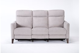Melina Grey Power Reclining Sofa With Usb