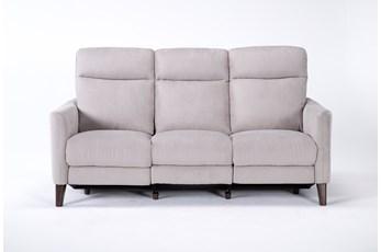 Melina Grey Power Reclining Sofa With Usb