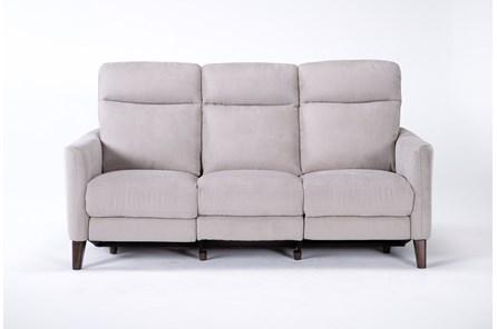 Melina Grey Power Reclining Sofa With Usb - Main