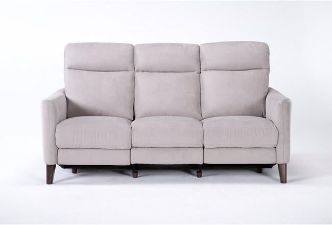 Melina Grey Power Reclining Sofa With Usb - 360