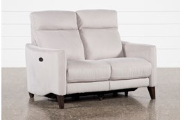 Melina Grey Power Reclining Loveseat With Usb
