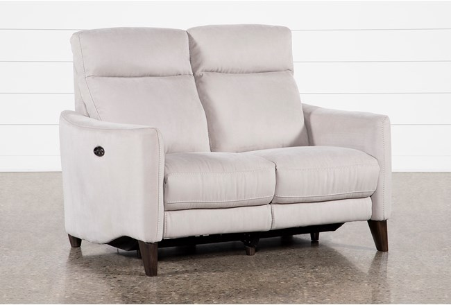 Melina Grey Power Reclining Loveseat With Usb - 360