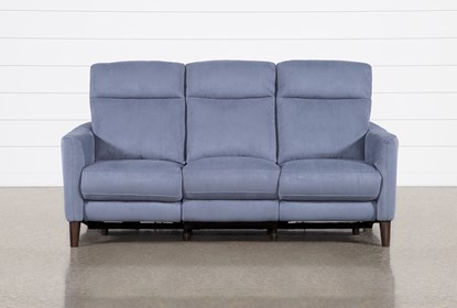 Swell Melina Blue Power Reclining Sofa With Usb Alphanode Cool Chair Designs And Ideas Alphanodeonline