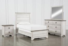 Cassie Twin 4 Piece Bedroom Set