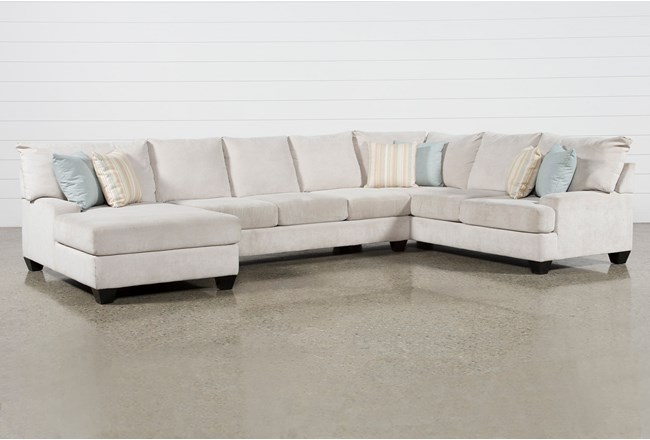 Harper Foam II 3 Piece Sectional With Left Arm Facing Chaise - 360