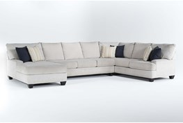 """Harper Foam II 3 Piece 157"""" Sectional With Left Arm Facing Chaise"""