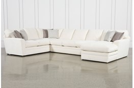 Prestige Down 3 Piece Sectional With Right Arm Facing Chaise