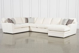 """Prestige Down 3 Piece 159"""" Sectional With Right Arm Facing Chaise"""