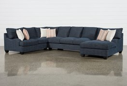 """Sierra Down III 3 Piece 157"""" Sectional With Right Arm Facing Chaise"""