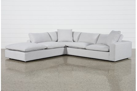 Utopia 3 Piece Sectional With Left Facing Bumper Chaise