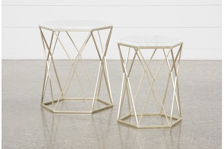 Trixie 2 Piece Set Accent Tables