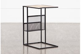 Sorrel Arm C Table with Magazine Rack