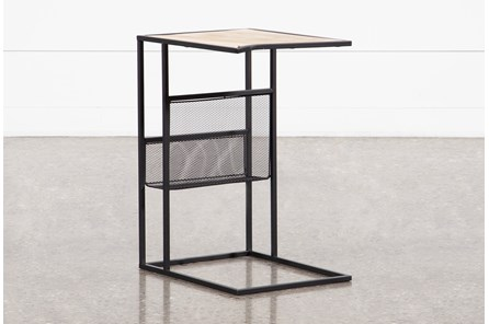 Sorrel Arm Chair Table with Magazine Rack