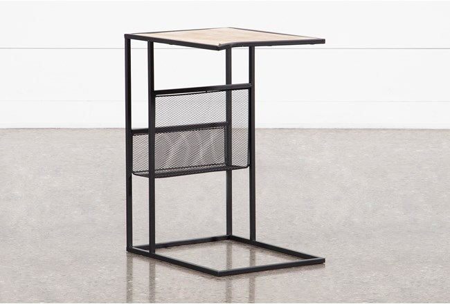 Sorrel Arm Chair Table with Magazine Rack - 360