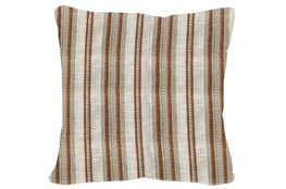 Accent Pillow-Terracotta & Taupe Stripe 20X20