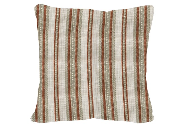 Accent Pillow-Terracotta & Taupe Stripe 20X20 - 360