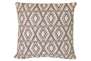 Accent Pillow-Black Diamonds On Linen 20X20