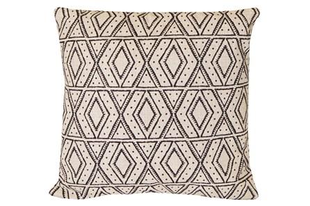 Accent Pillow-Black Diamonds On Linen 20X20 - Main