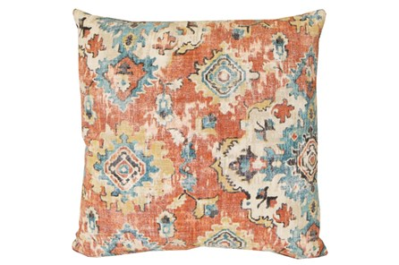 Accent Pillow-Terracotta Antique Damask 20X20 - Main