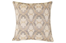 Accent Pillow-Black & Gold Metallic Embroidery 20X20
