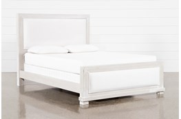 Sinclair Pebble Eastern King Panel Bed