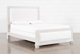 Sinclair Pebble California King Panel Bed