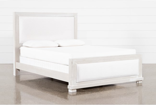 Sinclair Pebble California King Panel Bed - 360