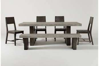 Titan 6 Piece 82 Inch Dining Set