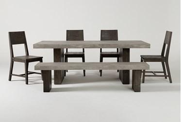 Titan 6 Piece 82 Inch Dining Set