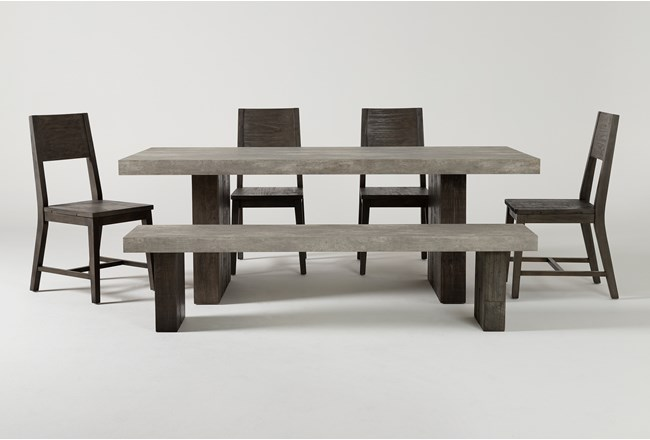 Titan 6 Piece 82 Inch Dining Set - 360